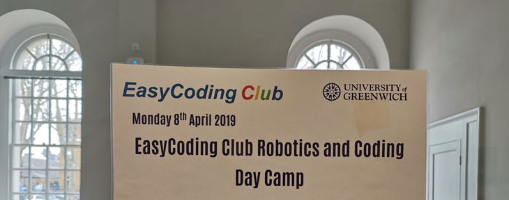 EasyCoding Club Holiday Camps at University of Greenwich, Bromley and Beckenham